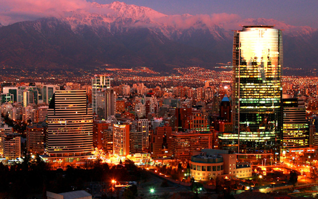 3 - Santiago by night